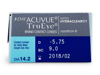 1 Day Acuvue TruEye (30leč) - Predogled lastnosti