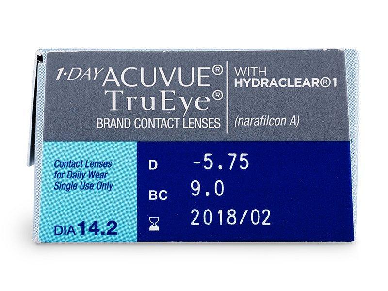 Predogled lastnosti - 1 Day Acuvue TruEye (30leč)