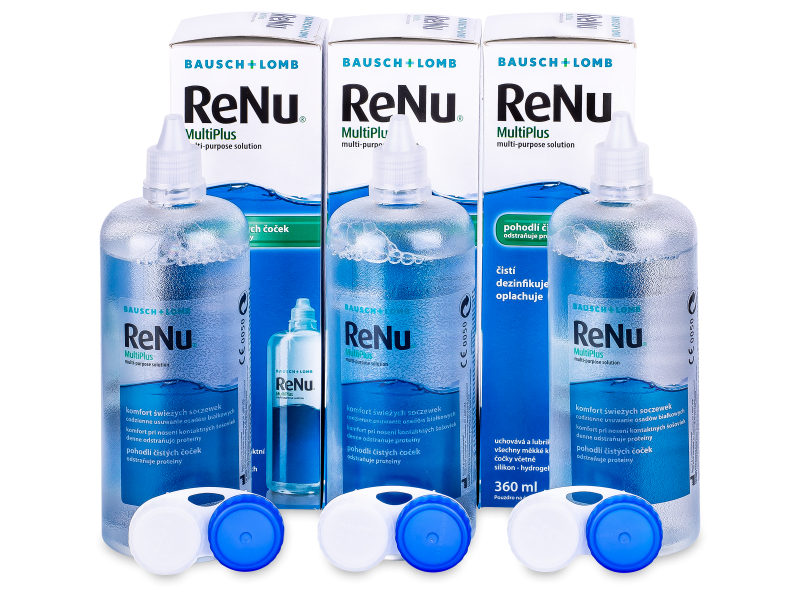 Tekočina ReNu MultiPlus 3 x 360 ml  - Economy 3-pack - solution