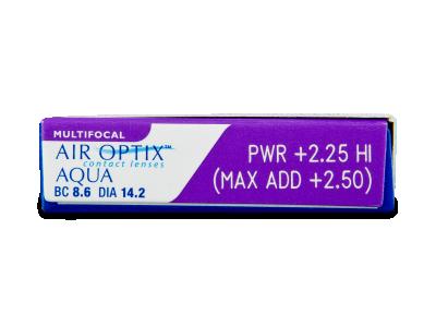 Air Optix Aqua Multifocal (3leče) - Predogled lastnosti