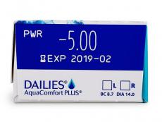 Dailies AquaComfort Plus (30leč) - Predogled lastnosti