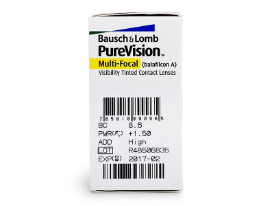 PureVision Multi-Focal (6leč) - Predogled lastnosti