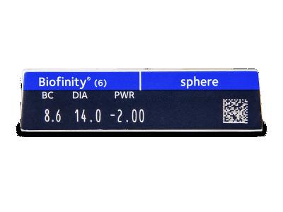 Biofinity (6leč) - Predogled lastnosti