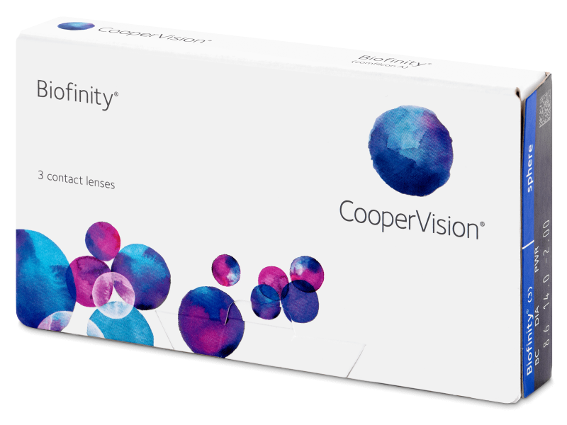 Biofinity (3leče) -  Monthly contact lenses