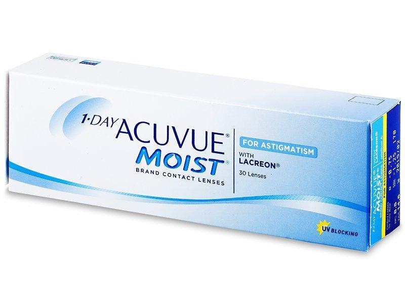 Torične kontaktne leče - 1 Day Acuvue Moist for Astigmatism (30leč)