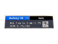 Biofinity XR Toric (3 leče) - Predogled lastnosti